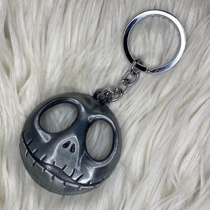 Disney Silver Nightmare Before Christmas Keychain